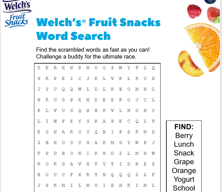 Welch's Printables